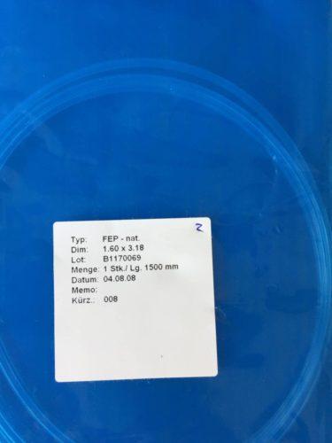 Büchi / FEP nat. Schlauch Dim: 1.60 x 3.18 Länge: 1500 mm