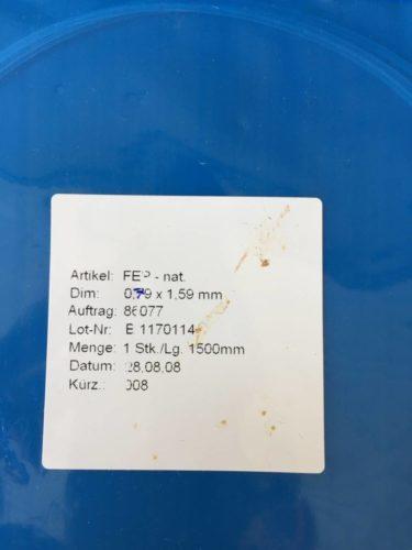 Büchi / FEP nat. Schlauch Dim: 0.79 x 1.59 Länge: 1500 mm