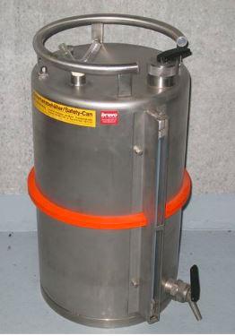 Düperthal / Sicherheits-Behälter aus Edelstahl 20L